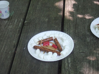 Edible fire safety lesson. Our scouts love doing this each year at camp.