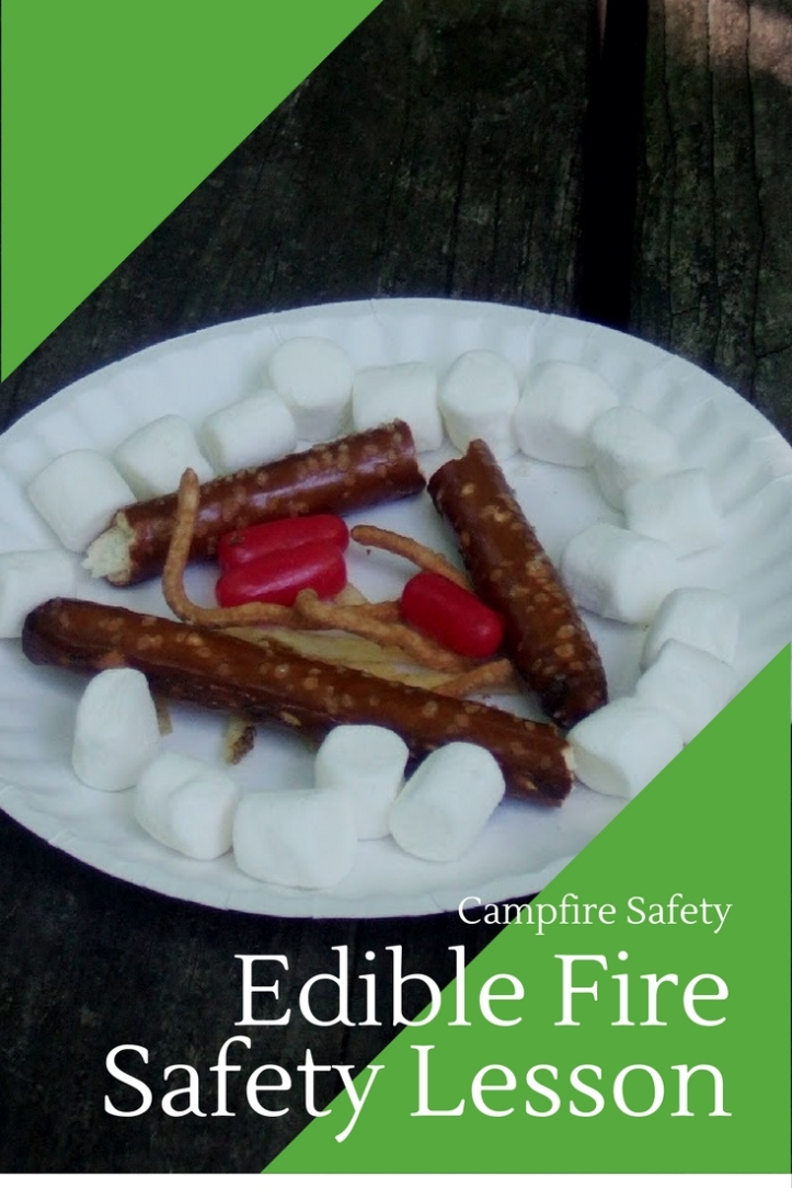 Sweet way to teach campfire safety: Edible fire safety lesson for scouts and kids