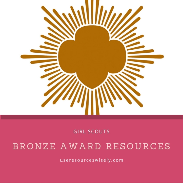 Help and ideas for Girl Scout Bronze Award for Junior Girl Scouts