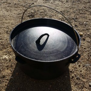 This is my family's Dutch oven. We take it on every camping trip.