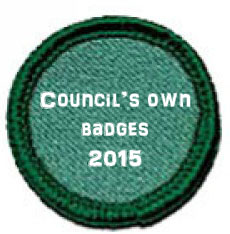 Council's own badges for Girl Scouts USA. Includes some Daisy badges from the Maine council.