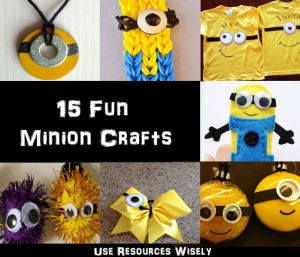 15 Minion craft projects you can do with your Girl Scout or Cub Scout troop. (Some even hit requirements for badges!)