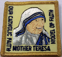 Mother Theresa patch for Girl Scouts, Campfire Girls and American Heritage Girls