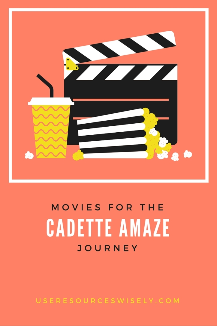 Movie ideas and tie-ins for Cadette Girl Scout AMAZE journey