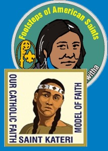 Catholic scouting patch programs about Native American Saint Kateri Tekakwitha