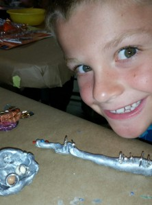 Brownie bugs badge activity: Create your own insects with clay and leftover jewelry supplies