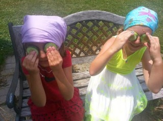diy kids facials with food from garden