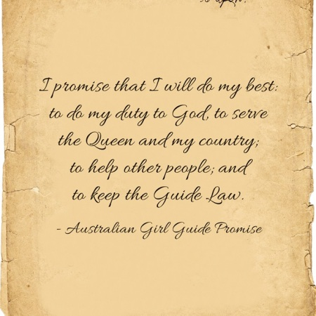 Australia Girl Guide Promise | World Thinking Day | Girl Scouts