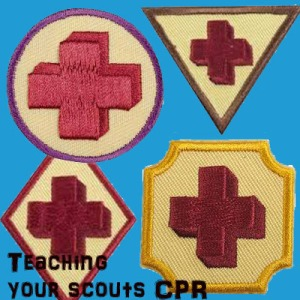 Teaching CPR to Girl Scouts and Boy Scouts. $40 well spent.