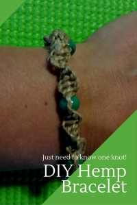 How to make this Knotted Hemp Bracelet - You just need to know one knot and you're set!