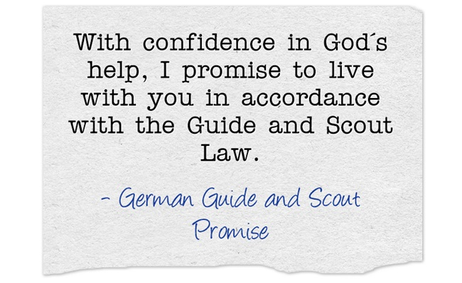 German Girl Guide and Scout Promise | World Thinking Day | Germany