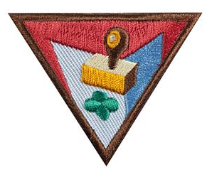 Brownie Girl Scout Letterboxing badge