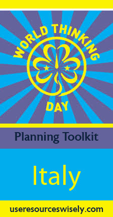 World Thinking Day crafts, food and activities for Italy