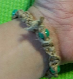 Knotted bracelet for Girl Scout Jewelry Badge requirements