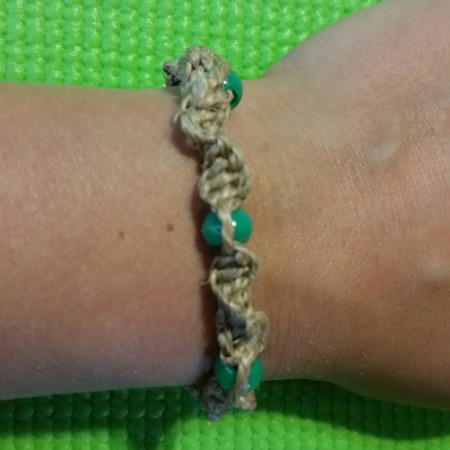 Macrame bracelet for camp or Junior Girl Scout jeweler badge