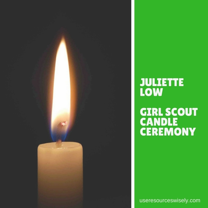Juliette Low candle ceremony for Girl Scouts
