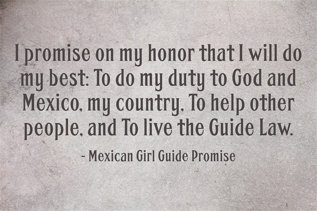 Mexican Girl Guide Promise | Girl Scout Thinking Day