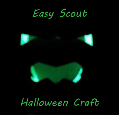 Easy Scout Halloween Craft. Great for Cub Scouts, Daisies and Brownie Girl Scouts.