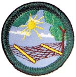 retired stress management badge for junior girl scouts