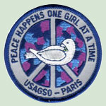 Girl Scouts in Paris Peace Patch Program encourages children to resolve conflict, reach out to others in peace and friendship, to dedicate themselves to acts of kindness, to understand our differences to avoid misunderstandings, and to rejoice in our likenesses.