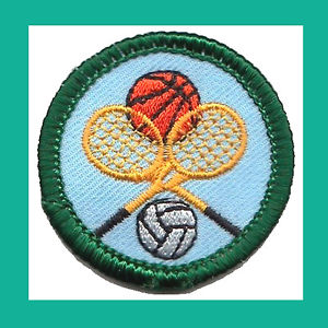 Retired junior court sports badge