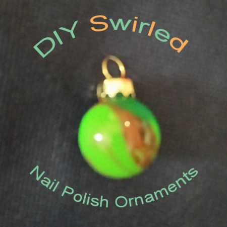 Use up your old nail polish by making these easy swirled ornaments for your Christmas tree.