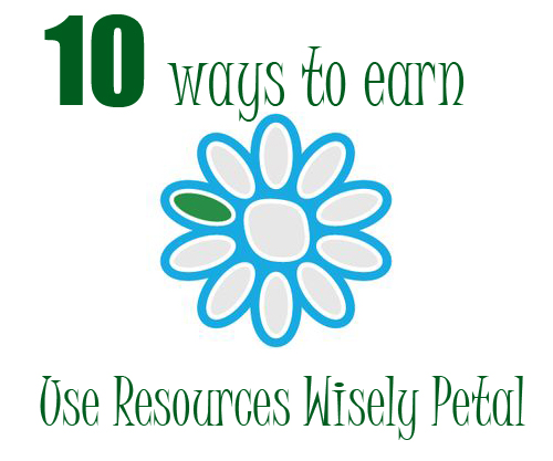 Activities for the Use Resources Wisely Daisy Girl Scout petal