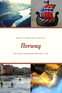 #GirlScout and #GirlGuide ideas for #ThinkingDay. Learn about #Norway with #games, #crafts and #activities.