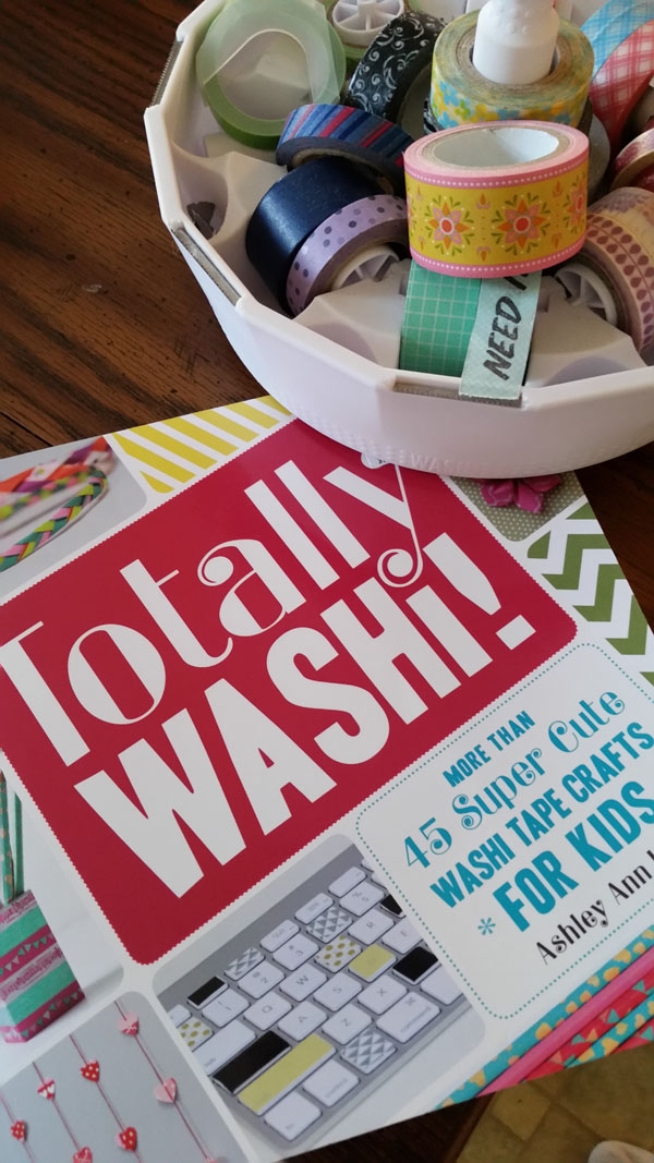 Cute preteen crafts: a book review of Totally Washi: 45 Super Cute Washi Tape Crafts for Kids by Ashley Ann Laz