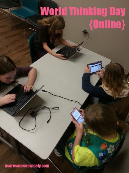 How our Girl Scout troop celebrated World Thinking Day - by connecting with scouts and guides around the world online.