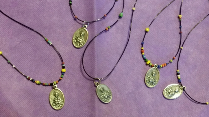 St Agnes medal necklace | patron saint of Girl Scouts
