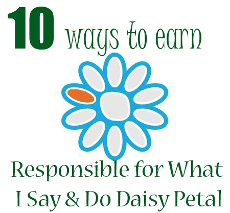 Responsible for What I Say and Do | Orange Daisy Girl Scout Petal Ideas