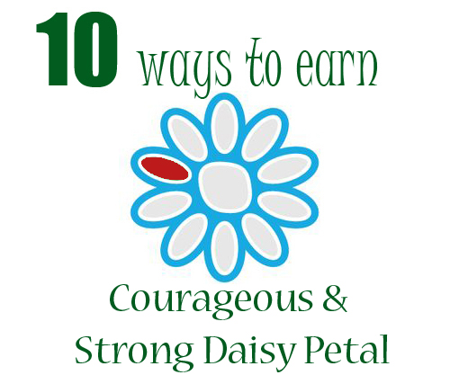 Earn the Red Daisy Petal | Courageous & Strong | Girl SCout Law