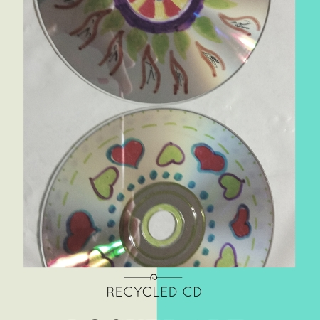 Recycled CD Locker Art Magnets | recycled craft | upcycled project | kids art