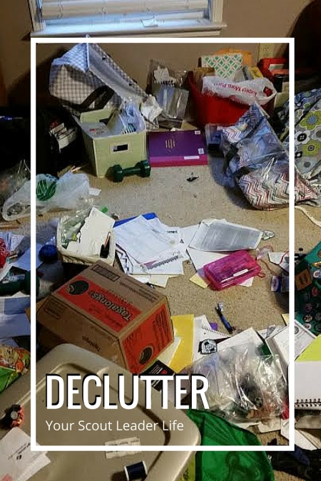 Declutter your Girl Scout Supplies. Step past the Konmari method of bringing joy and assess whether you can bless a sister scout troop with your leftover supplies.