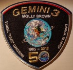 Fun patch for Girl Scouts and Boy Scouts - Grissom Memorial in Spring Mill State Park, Mitchell, Indiana. Honors famous Hoosier, Virgil Gus Grissom, one of America's first astronauts