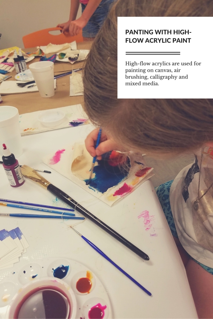 how to make high flow acrylic paint