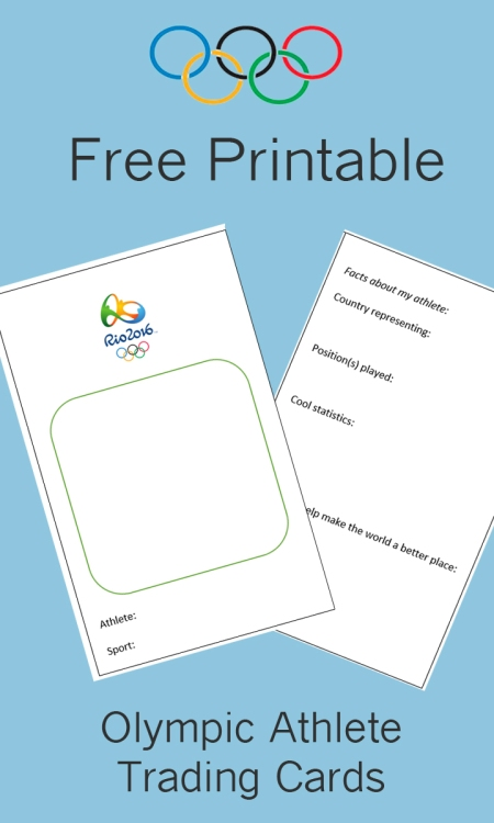 Free Printable: Olympic Athlete Trading Cards
