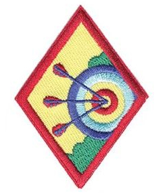 Cadette Girl Scouts archery badge