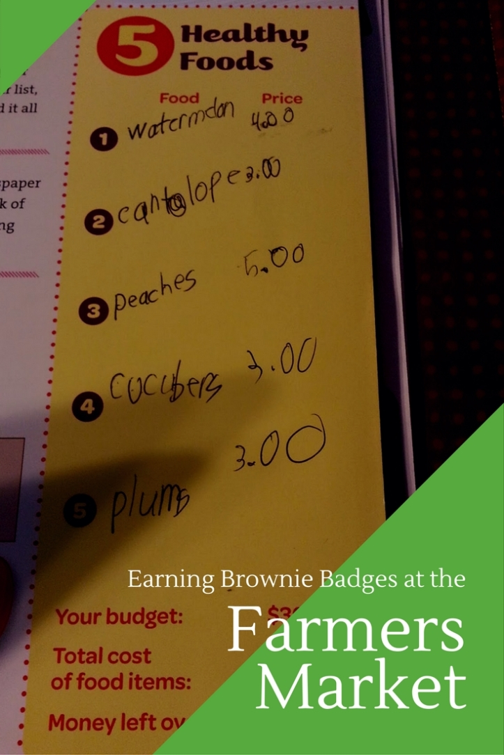 How to earn Brownie Girl Scout Badges at the farmers market. Easy and cheap field trip idea!