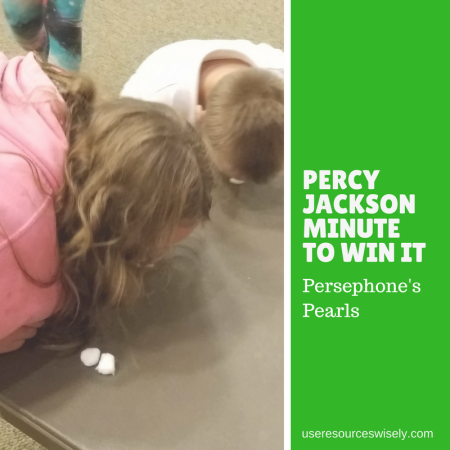 Percy Jackson Minute to Win It Game - Persephone's Pearls