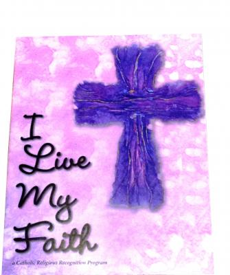 I live my faith catholics religious award for girl scouts