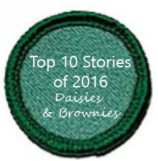 Top 10 stories for Girl scout leaders: Daisies and Brownie Girl Scouts
