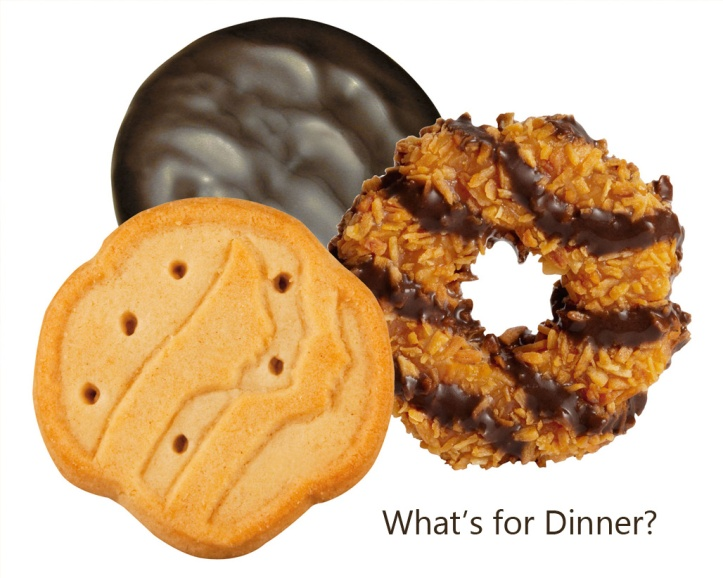 Girl scout cookies - recipes for dinners and desserts using GS cookies