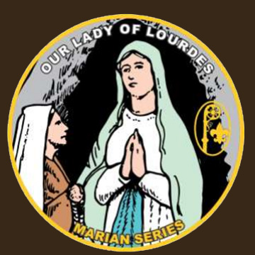 Catholic patch program for Our Lady of Lourdes - Boy Scouts, Girl Scouts, American Heritage Girls