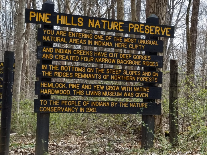 Pine Hills Nature Preserve near Shades State Park