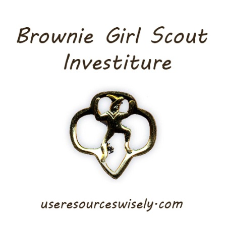 Brownie Girl Scout investiture ceremony