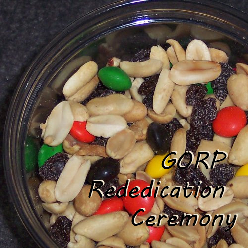 GORP recipe and rededication ceremony for Girl Scouts