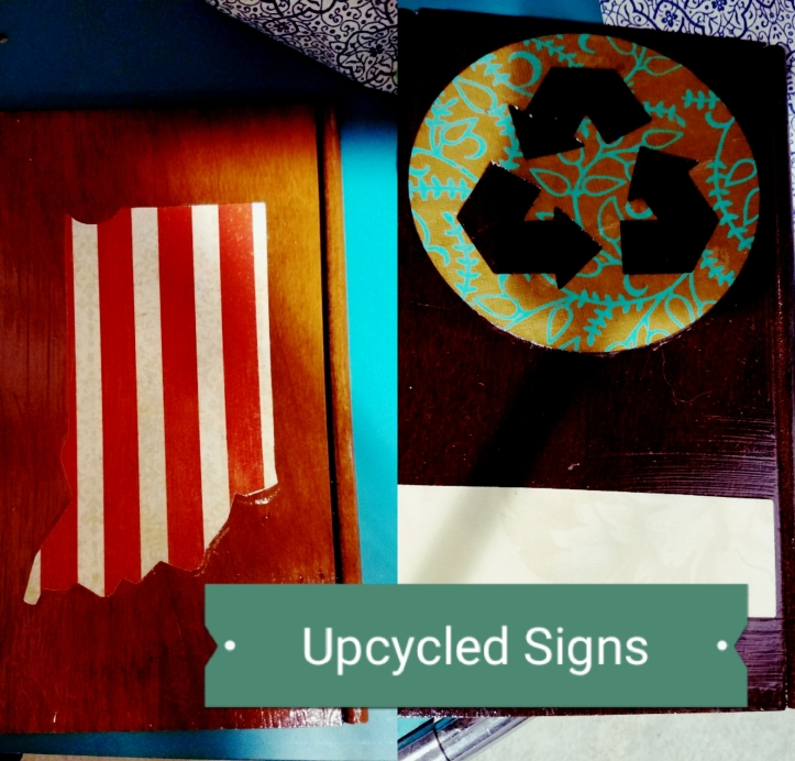 How to make cute individual signs or plaques from upcycled flooring samples