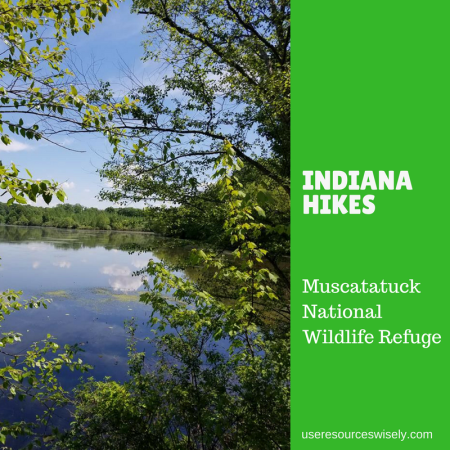 Hiking in Muscatatuck National Wildlife Refuge in Indiana